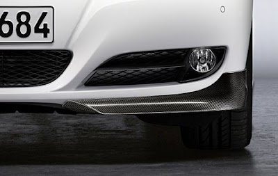 Front splitter in carbon for vehicles without aerodynamic kit