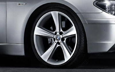 BMW 7 complete wheel and tyre set