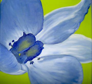 Azul derramado em flor