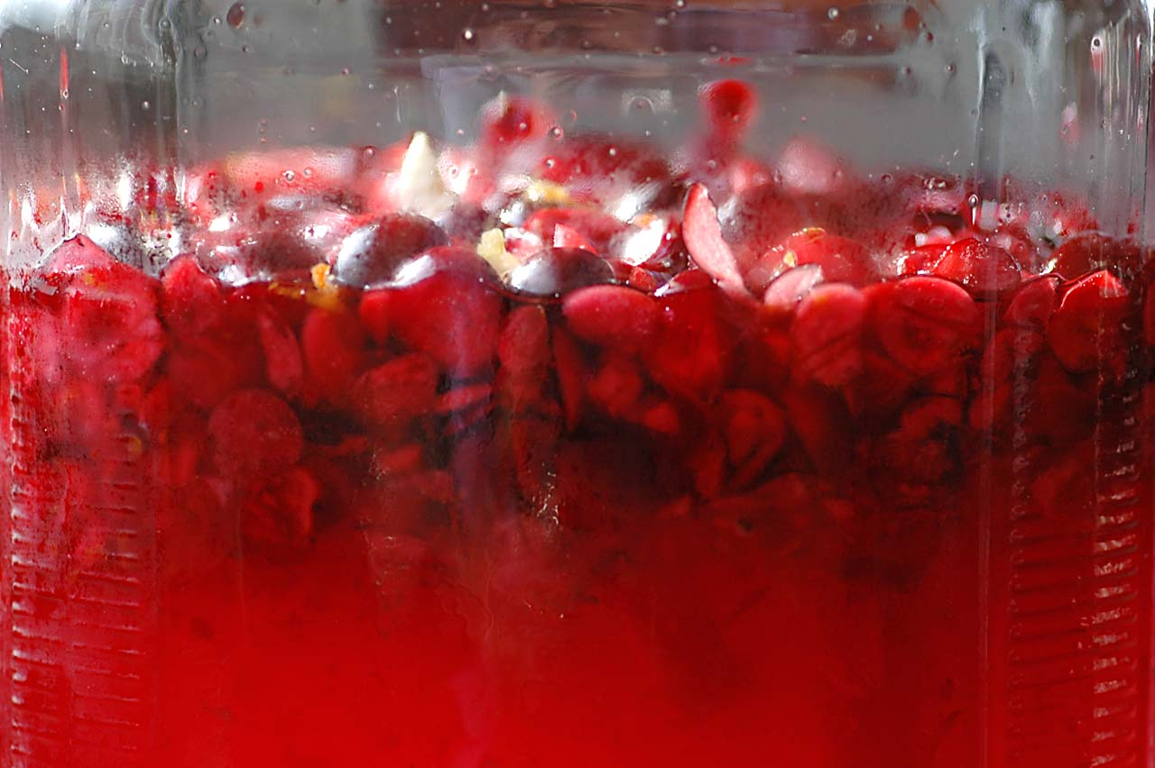 Cranberry Liqueur for the Holidays