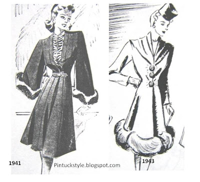 1940 Fashion Styles on Pintucks  Lilli Ann Suits From The 1940 S  The Early Years