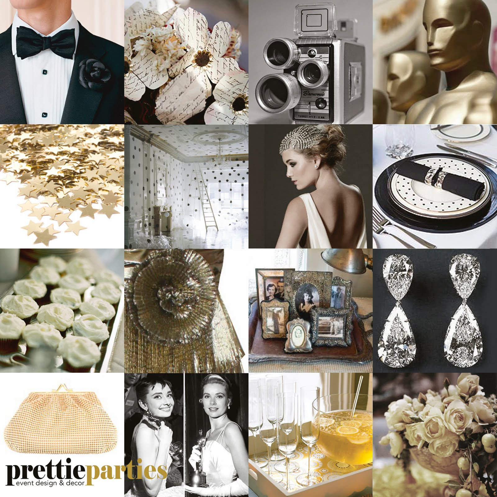 Prettie Parties: PRETTIE....INSPIRED #3 Golden Globes and Academy ...