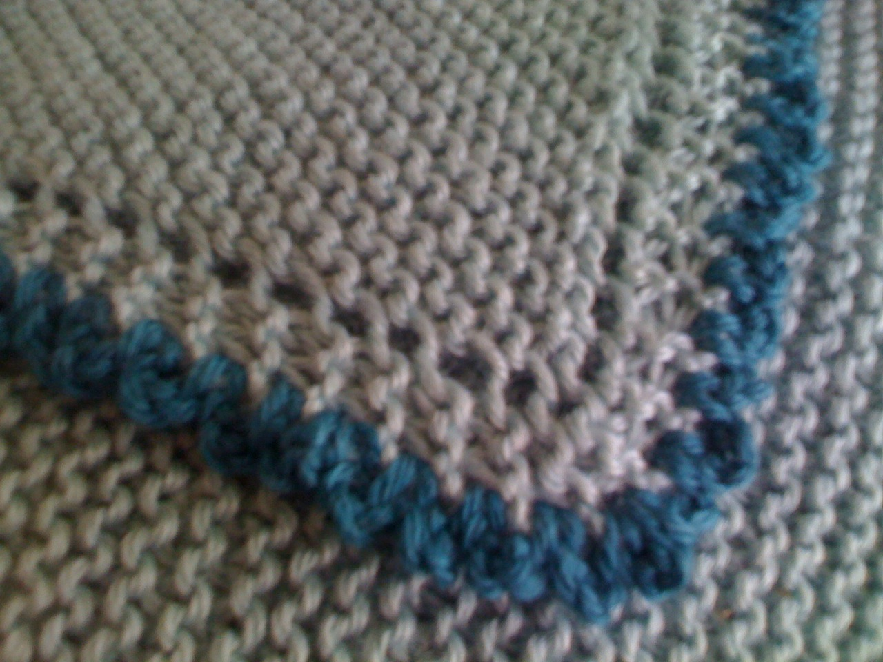 Knit-Wise: Diagonal Baby Blanket: One Down...