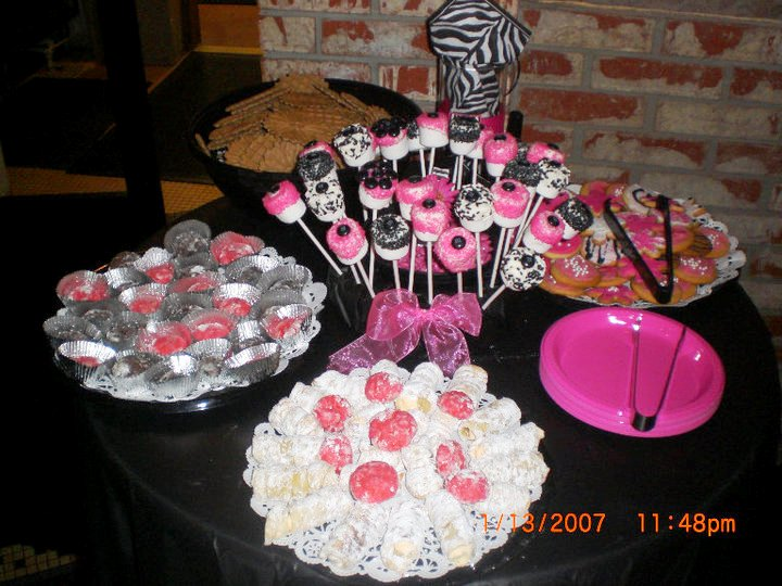 pink zebra baby shower style with nancy. Black Bedroom Furniture Sets. Home Design Ideas