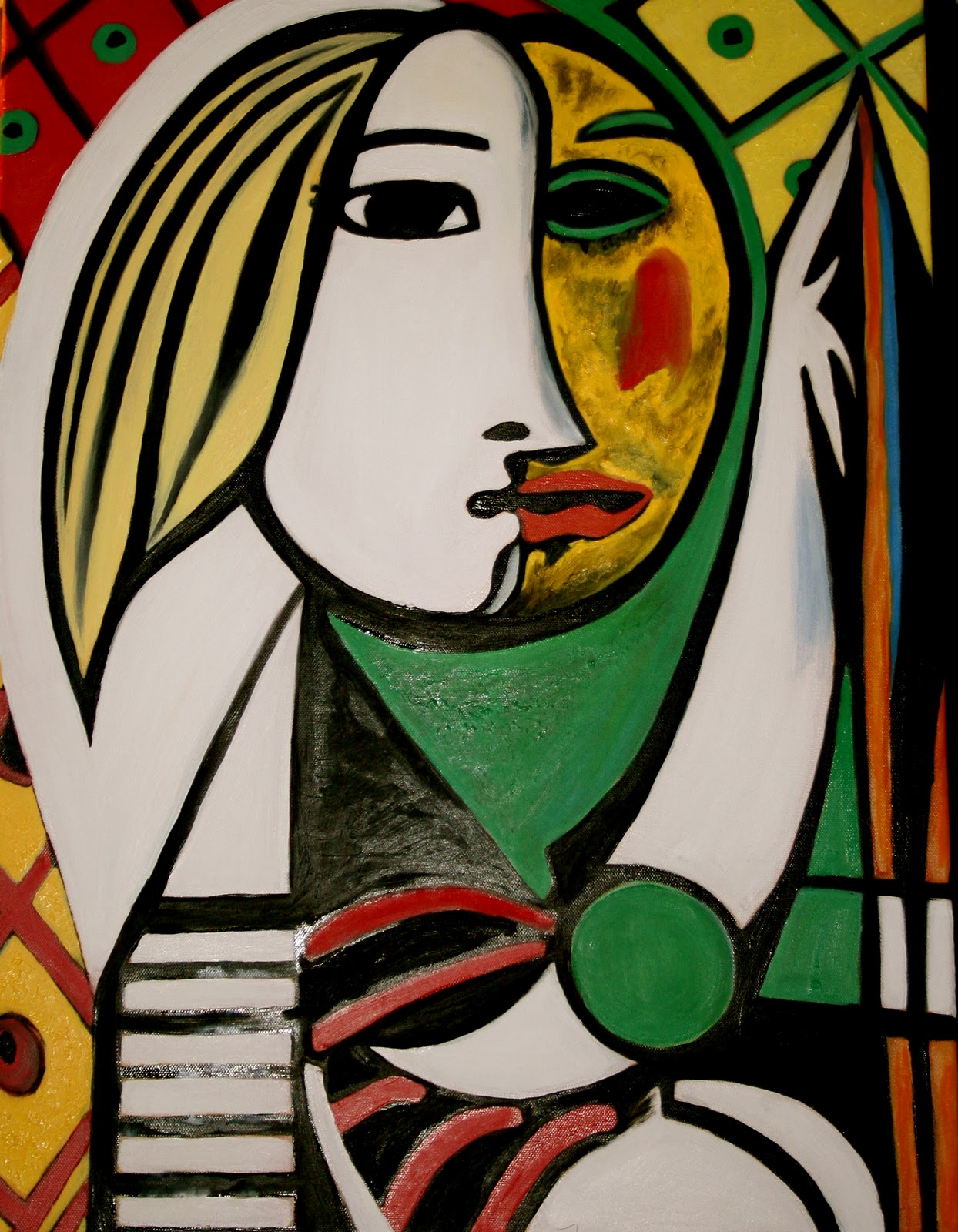sean bernhardt a piece of picasso 39 s girl before a mirror 18 x24 oils. Black Bedroom Furniture Sets. Home Design Ideas