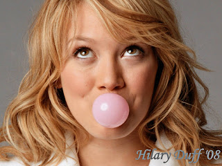 Hilary Duff Bubble Gum Wallpaper