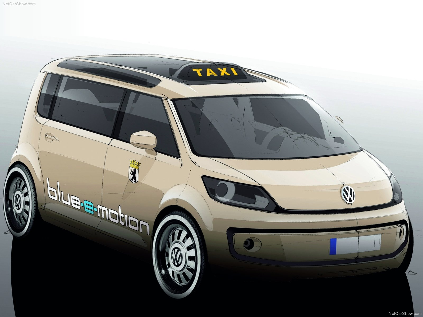 volkswagen berlin taxi concept pictures. Black Bedroom Furniture Sets. Home Design Ideas