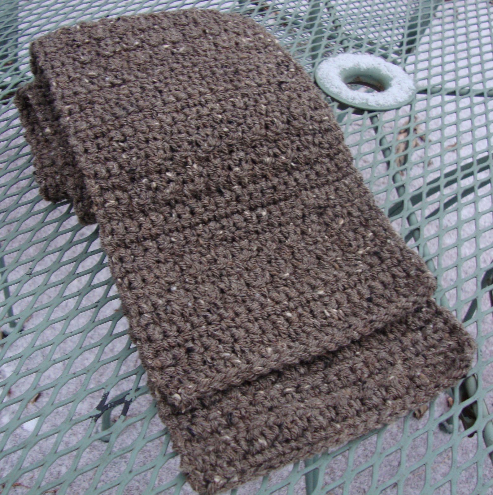 Free Crochet Patterns For A Man s Scarf : The Good Life: Burly Tweed Mans Scarf
