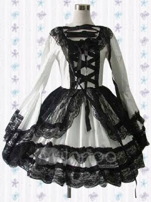 Como evitar ser una Ita.   Long-Sleeves-Lace-And-Tie-Cotton-Lolita-Dress-25028-1
