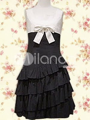Como evitar ser una Ita.   Black-And-White-Bow-Ruffles-Cotton-Lolita-Dress-12895-1