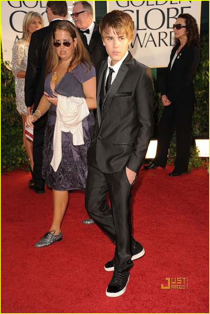 justin bieber golden globes new haircut 2011