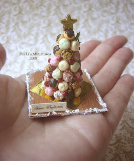 1/12 dollhouse miniature christmas profiteroles