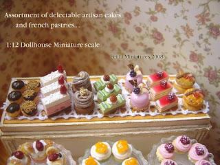 dollhouse miniature artisan cakes patisserie