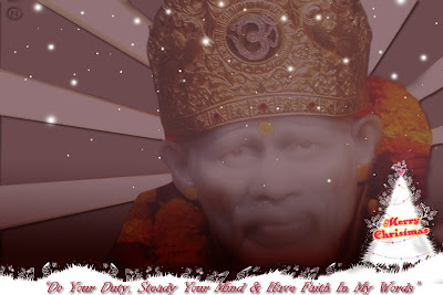 Shirdi Sai Christmas Wallpaper 1