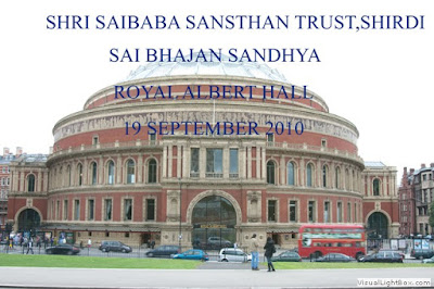 Details & Photos - Sai Bhajan Sandhya At Royal Robert Hall, London By Shirdi Sansthan