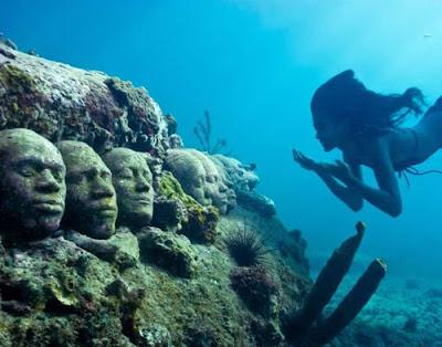 墨西哥 海底兵馬俑 - 墨西哥 海底兵馬俑 人工礁作品