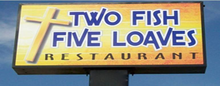 Eating while black two fish five loaves restaurant for Two fish five loaves