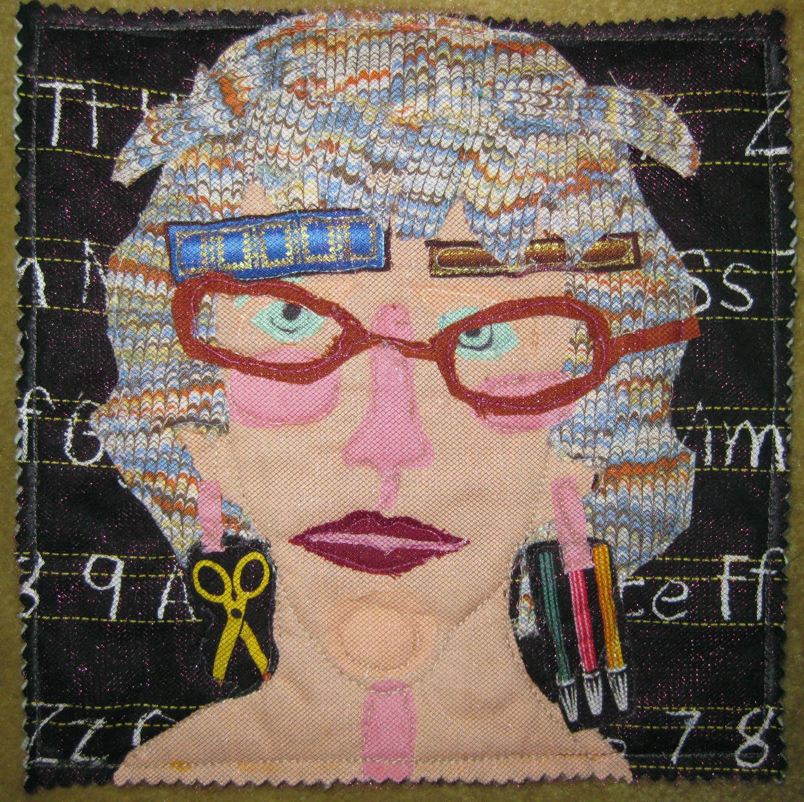 Drawing Time: Funny Face: a journal quilt : face quilts - Adamdwight.com