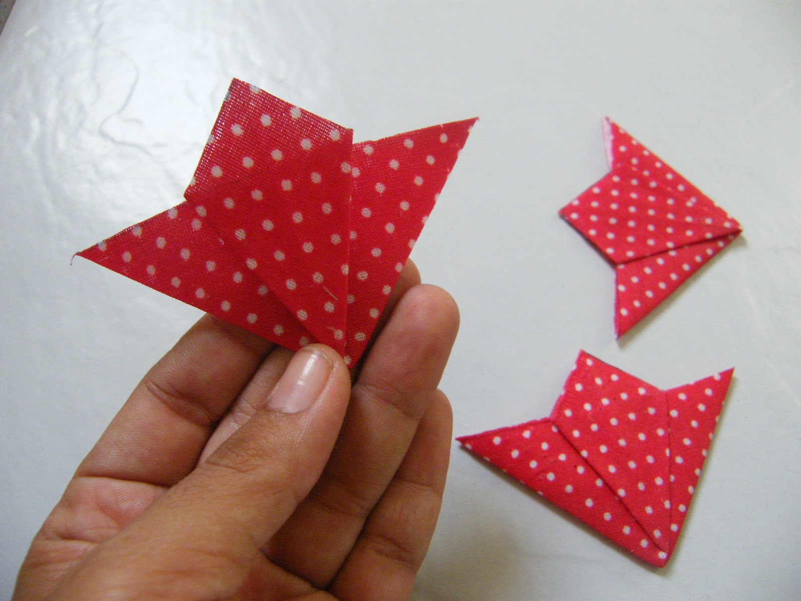 Bolsa Em Origami De Tecido : Dona milu passo a origami em tecido