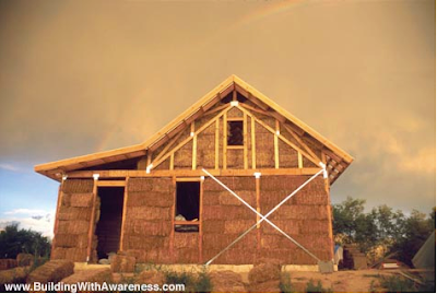 Carbon offset value of straw bale houses