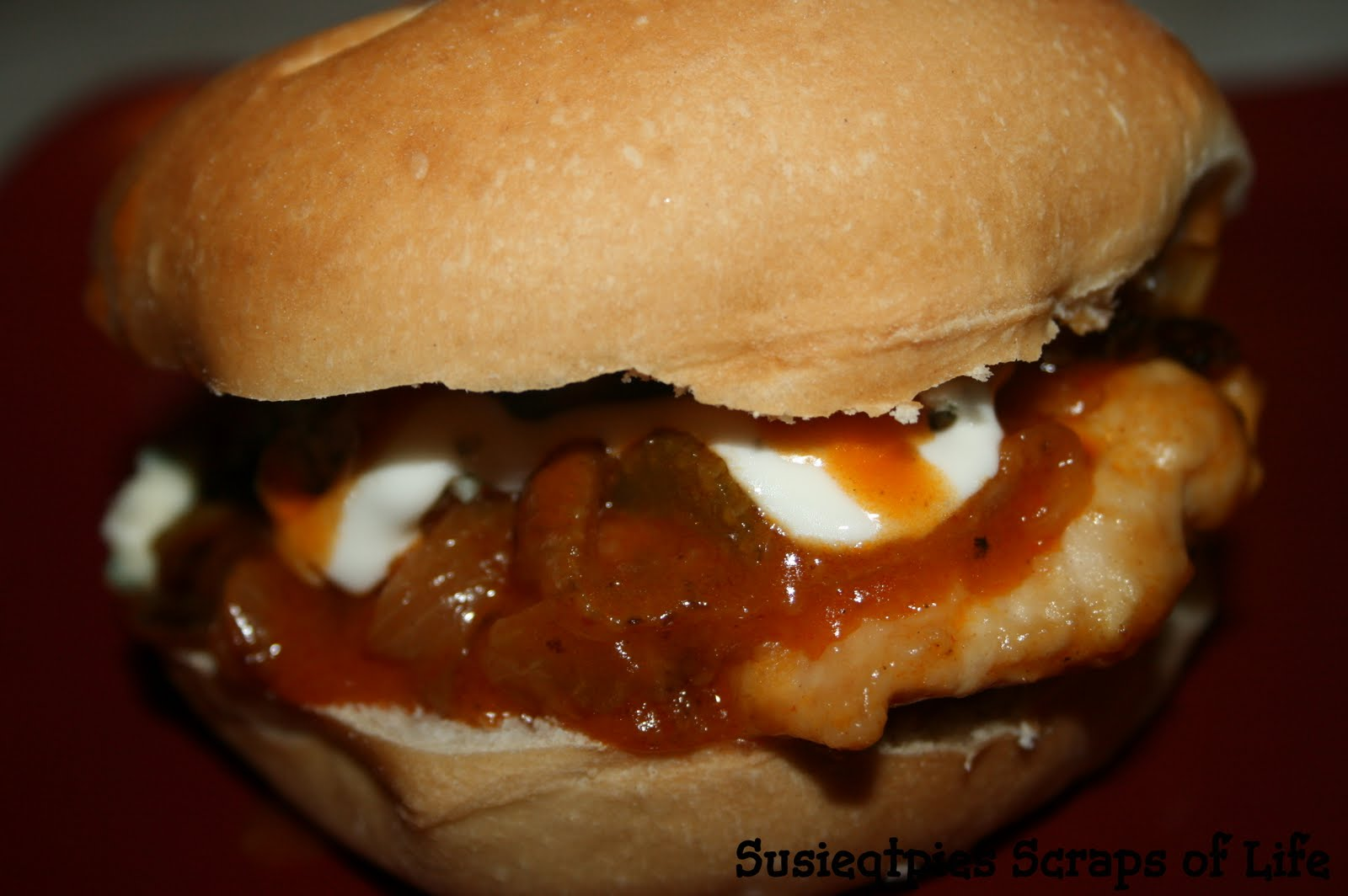 SusieQTpies Cafe: Ultimate Buffalo Chicken Burger Recipe