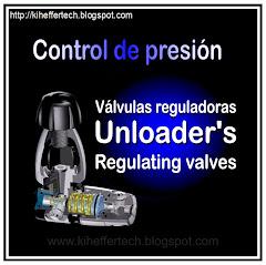 Contol de presión, válvulas reguladoras. UNLOADER.