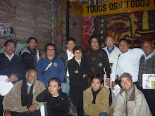 En El Averno: Michael Jiménez, yo, Johnny Barbieri, Roberto Salazar, César Pineda Q. y otros más.