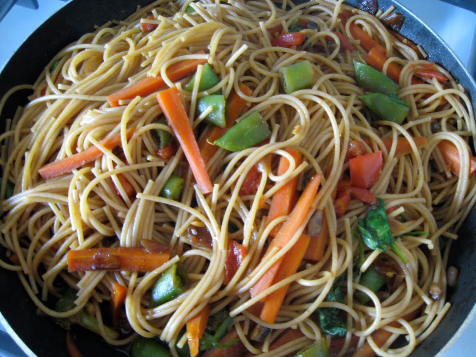 Reclaiming My Inner Pioneer: Vegetarian Stir Fry with Noodles