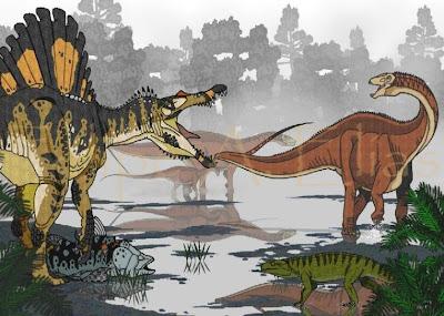 http://1.bp.blogspot.com/_DAAcHJHDRPU/SIdTIxUgeGI/AAAAAAAAB8E/bKOPlJsNdZk/s400/Morning_of_Itapecuru_by_Paleontologia+spinosaurus,amazonsaurus,mawsonia(coelacant)+e+candidodon+(croc).JPG