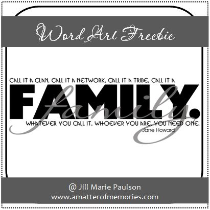 quotes about family photos. :WORD ART: Family Quote