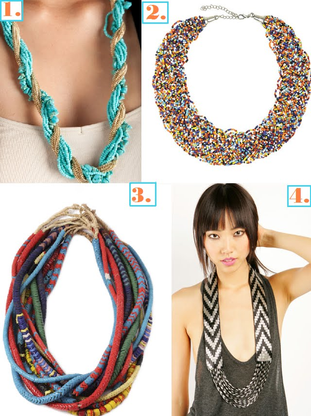 Tribal Pendants on Tribal Necklaces