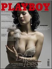 Dita Von Teese in German Playboy