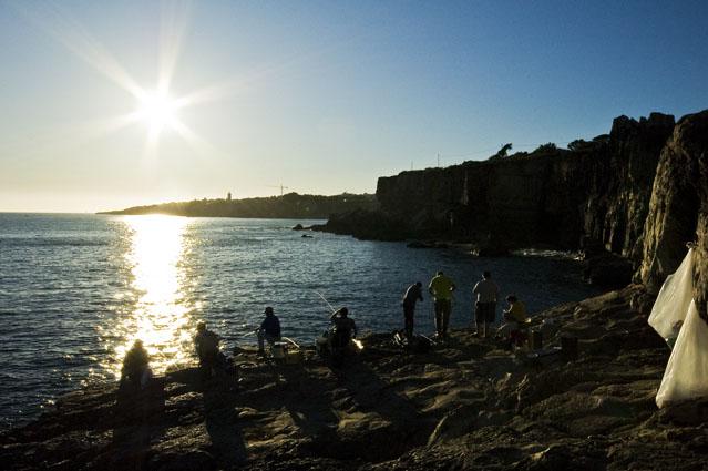 Pescadores numa tarde de Verão - Boca do Inferno, Cascais