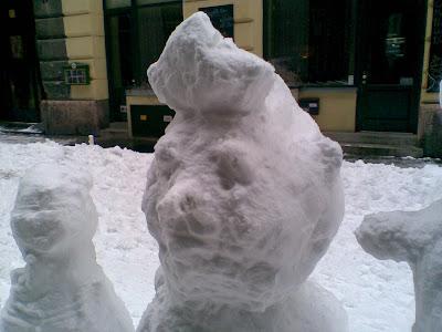 Budapest, snowman, VI. kerület, Hajós utca, blog, Magyarország, street art, hóember