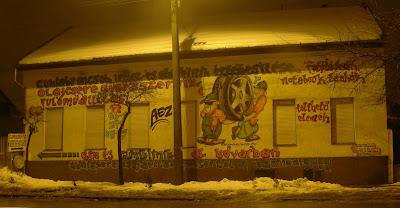 Gumiszervíz,  Cím: 1152 Budapest, Rákos út 101. Telefon: 06-1-271-0315 Nyitva tartás: Hétfőtől - péntekig: 8-tól - 17 óráig Telima Kft. Telima Kft.blog, Budapest, gumiszervíz, Rákos út, street art, XV. kerület, graffiti, antigraffiti