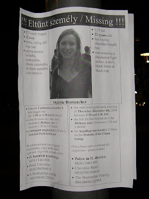 ELTŰNT / MISSING: Ophélie BRETNACHER