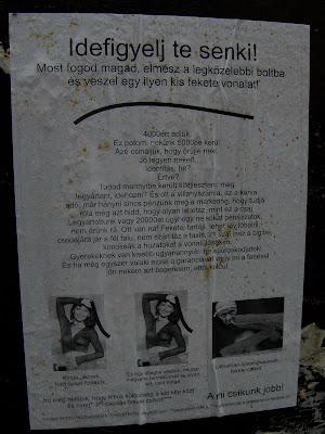 fekete csík, Józsefváros, mkkp, Mária utca, nyócker, plakát, street art, VIII. kerület