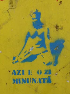 Azi este o zi minunată, Kolozsvár, matrica, street art