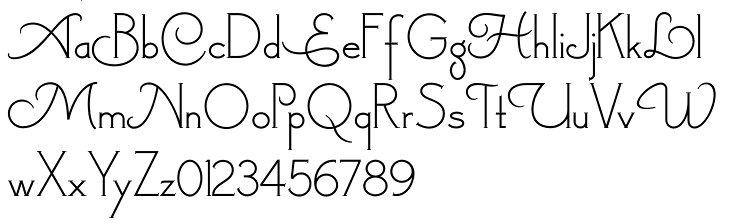 Pretty Alphabet Letters Font - klejonka