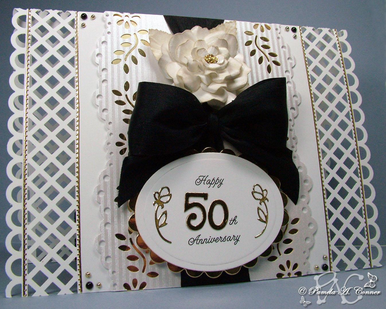 yorkiemom s creative corner 50th wedding anniversary card