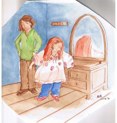 Ilustración de Mónica y Rita