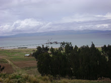 Vista de lago Titicaca desde chaguaya