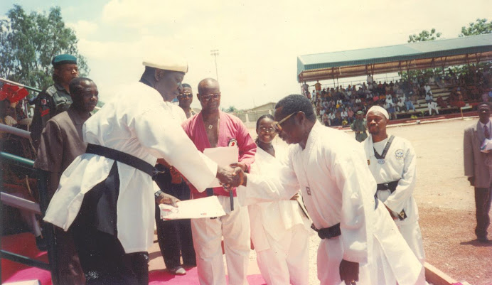 MILESTONE: Institution of NTF75 Taekwondo Chapter in Ebonyi State under thei State University 1999