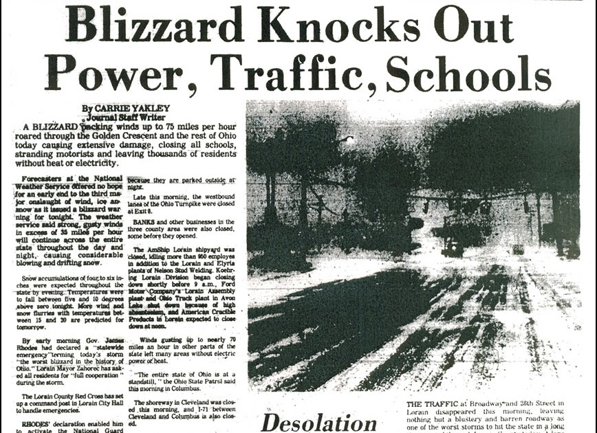brady u0026 39 s lorain county nostalgia  the blizzard of 1978 part 1