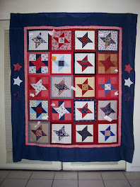 Sample QoV Friendship Star Block of the Month Quilt top