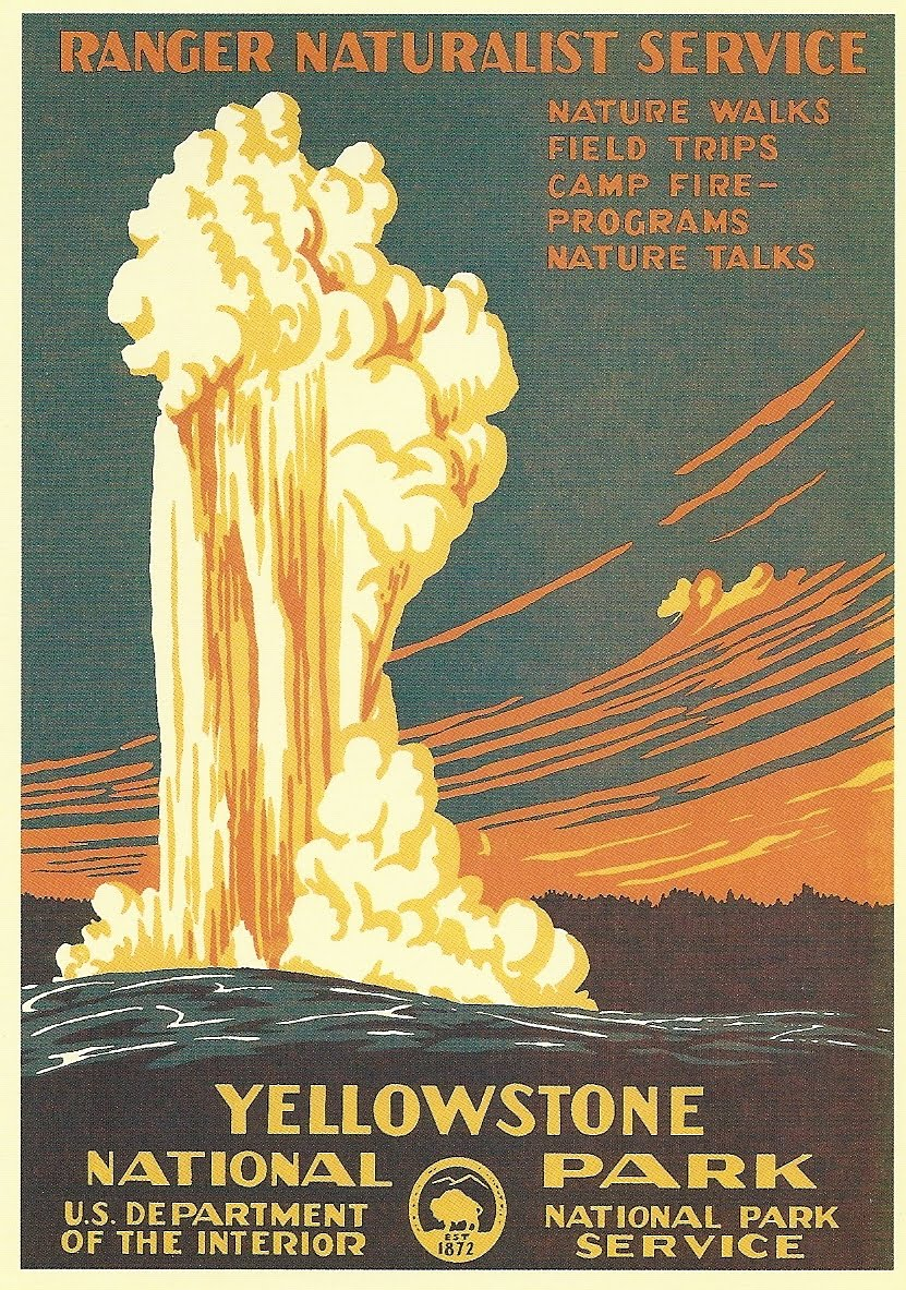 Image result for Yellowstone vintage postcards