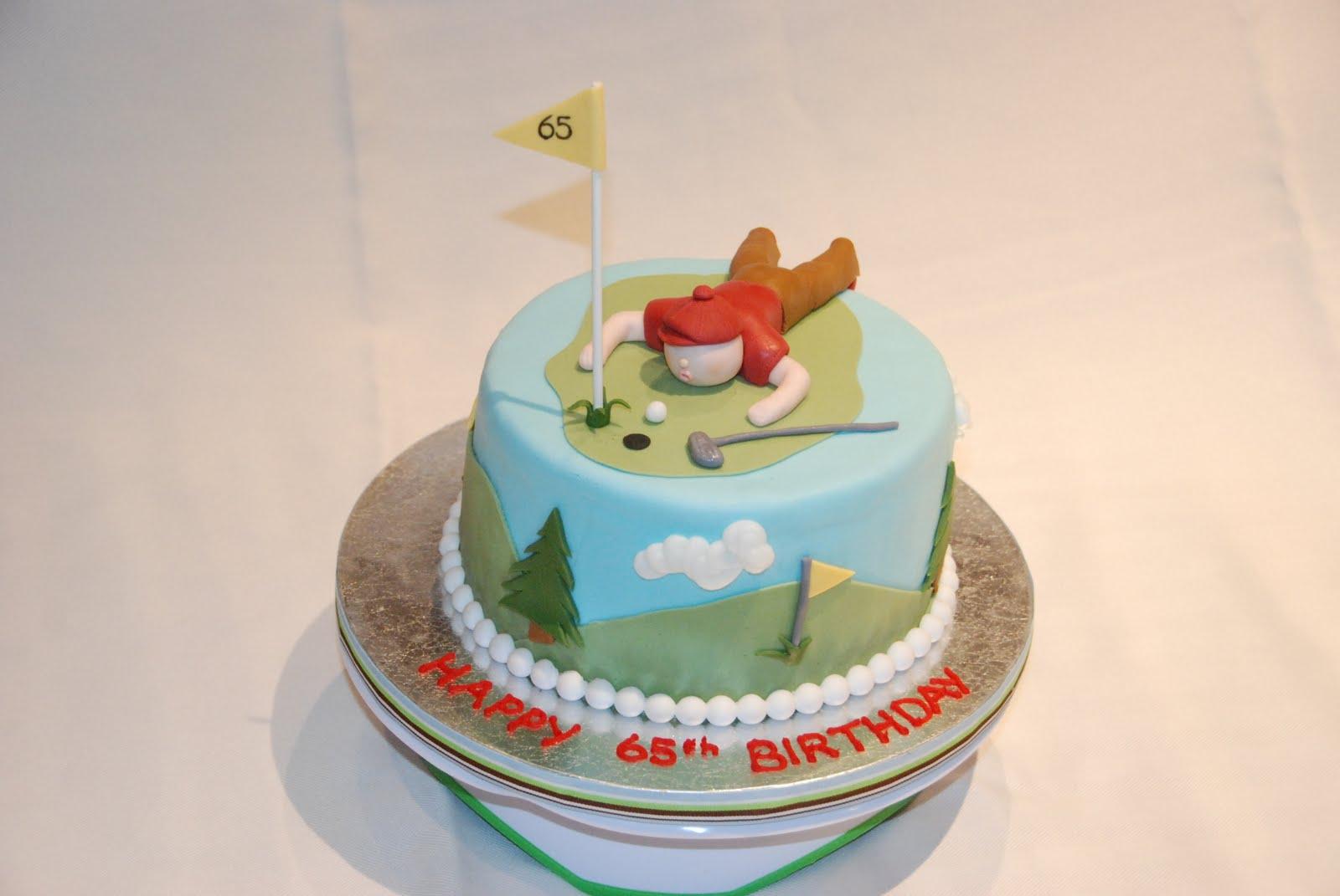 Cake Creations by Trish Golf themed 65th Birthday