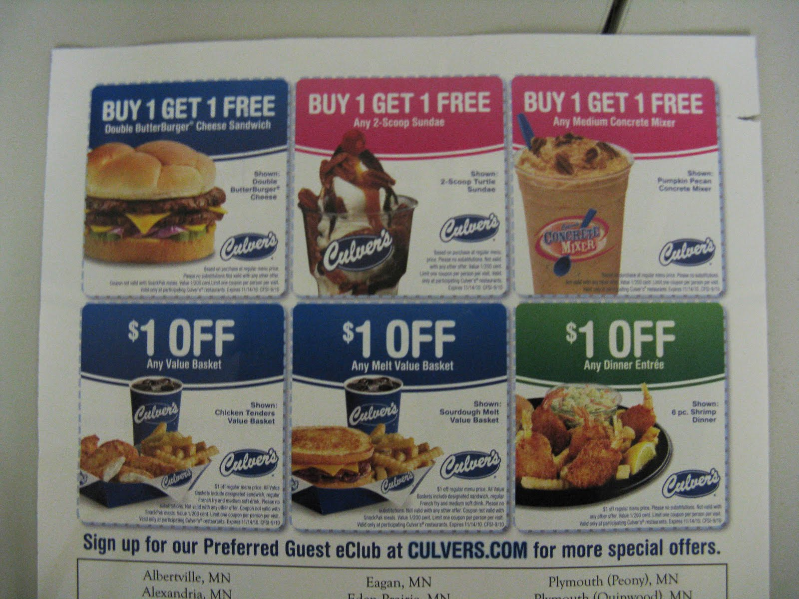 Culver's printable coupons 2019