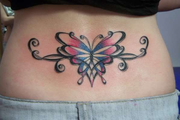 bow tattoo on back of neck. ow tattoo on ack of neck.