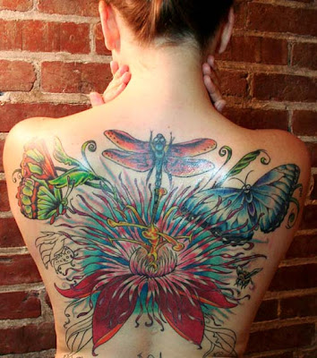 Back Body Dragonfly Tattoo